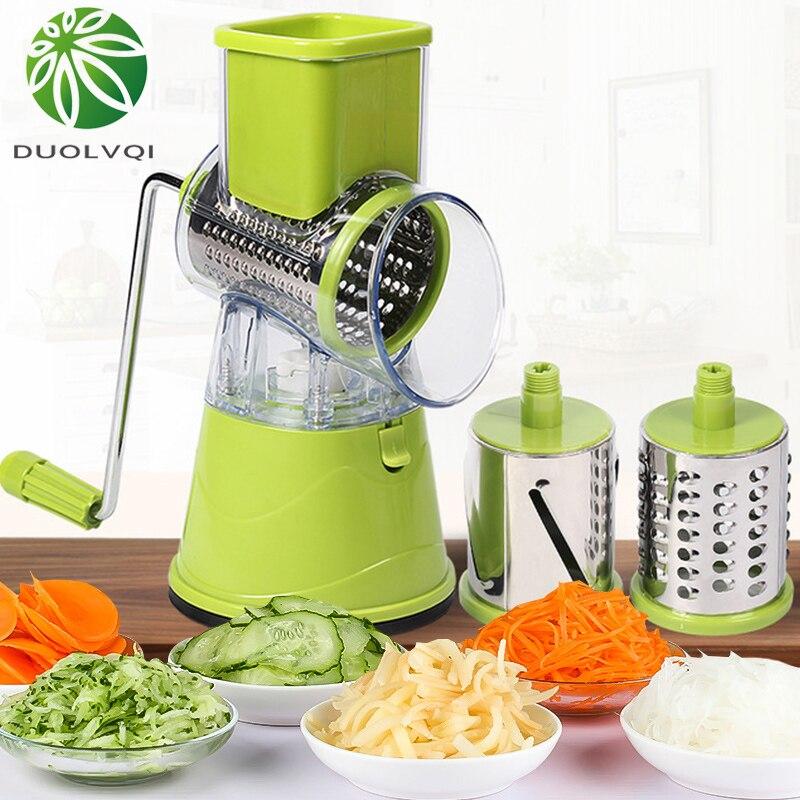 Duolvqi Multifuncional Corte De Fatias de Batata Vegetal Slicer Desfiado Manual do Cortador De Legumes Cozinha Ferramentas Práticas