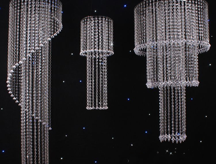 Image 3 - 1000pcs Beads + rings Acrylic crystal garland, Acrylic Crystal Prisms Octagonal Beads Lamp Chandelier Parts Pendant Decoration-in Portable Lighting Accessories from Lights & Lighting