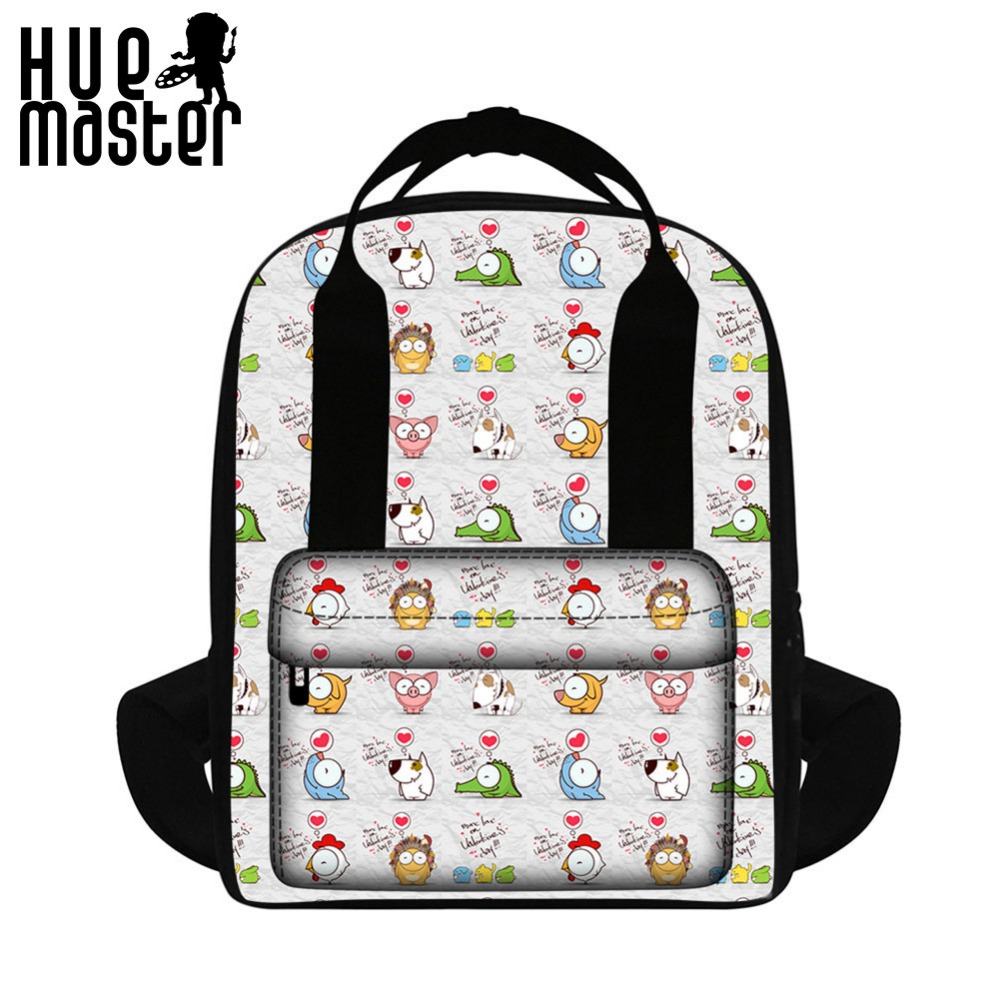 HUE MASTER Lightweight fashion ladies shoulders bag backpack cube book bag fresh Japanese and Korean style