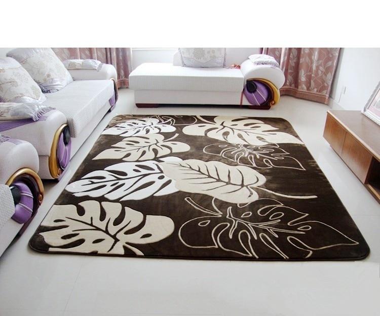 US $85.4 |Nuovo arriva soggiorno tea table 200*240 cm Tappeti Moderni,  grande foglia tappeti per salotto marrone con carpet-in Tappeto da Casa e  ...