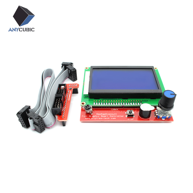 Anycubic 12864 Display LCD 3D Printer Controller +Adapter For RAMPS 1.4 Reprap Mendel GM