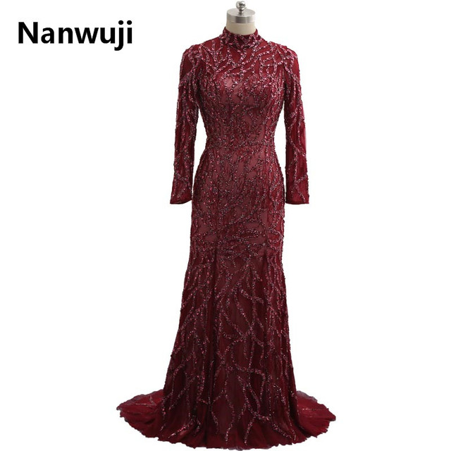 Real Sample 2017 Dubai Kaftan Appliqued Long Evening Gowns Caftan Abaya In Dubai  Long Sleeve Arabic Dress Muslim Evening Dress 2eec547befd7