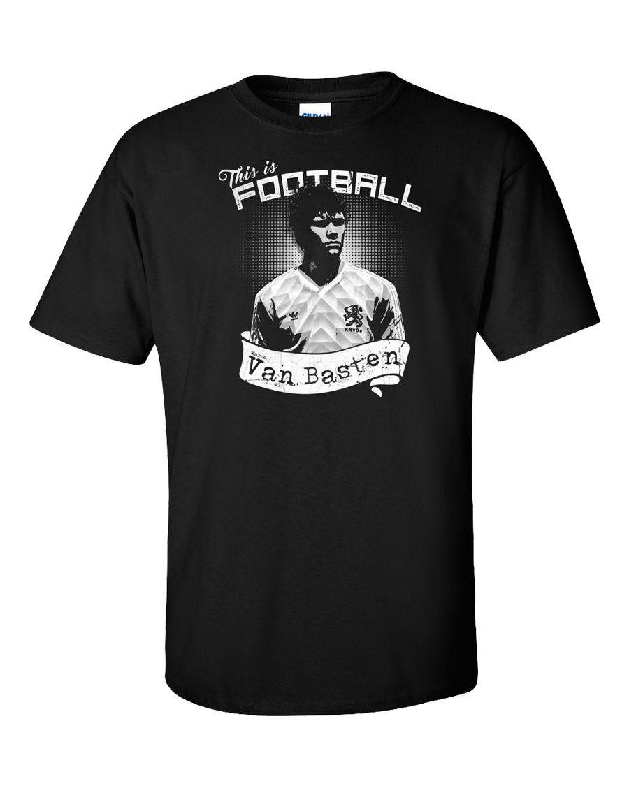 Footballer Legend T-Shirt Marco Van Basten Soccers Dutch Holland Ajax Milan Classic