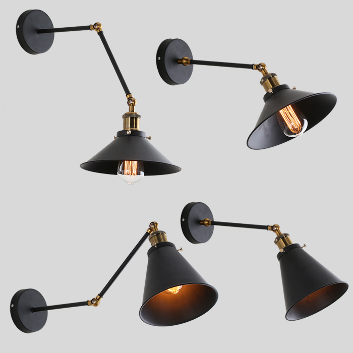 American Vintage Industrial iron Wall Lamp Lights Bar Restaurant E27 Bookshelf Wall Light Retro Wall Sconce american rural retro wall lamp nordic industrial loft sconce creative restaurant bar aisle bedside lamp outdoor wall light e27