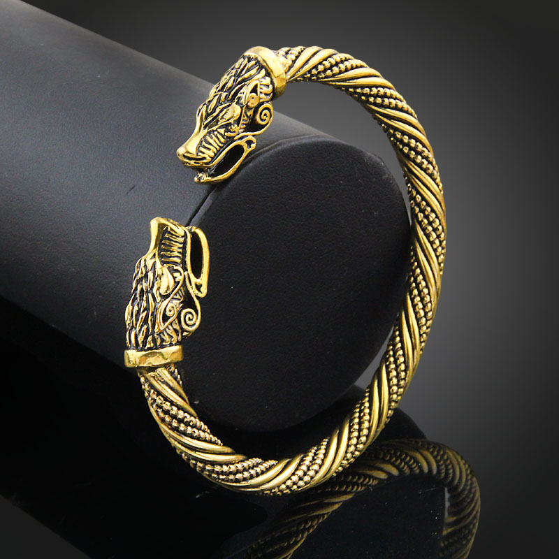 Vikings Snake Head Bracelet
