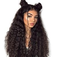 250 Плотность 13X6 глубокая волна полный Синтетические волосы на кружеве натуральные волосы парики для Для женщин 360 Синтетические волосы на к