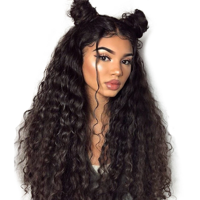 250 Density 13X6 Deep Wave Full Lace Front Human Hair Wigs For Women 360  Lace Frontal Wig Black Brazilian Remy Hair Venvee 8a7c87185