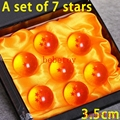3.5cm7Pcs/set Anime dragon ball with Gift Retail Box  Dragon Ball Z 7 Stars Action Figures Crystal Balls Collection Toys