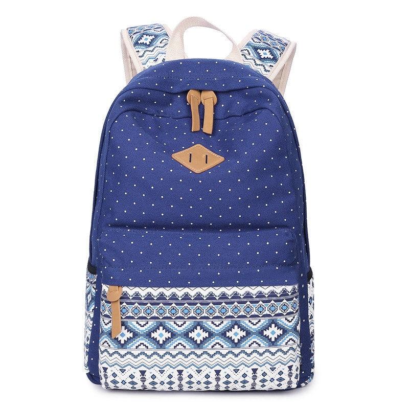 girl Backpack folk custom shoulder bag new 2017 student school bags women mochila Free shipping CHISPAULO