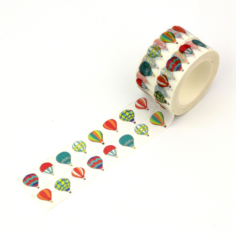 2PCS/lot NEW! Cute Colorful Hot Air Balloon Decor Washi Tape Paper DIY Scrapbooking Adhesive Tape 1.5cm*10m School Office Supply