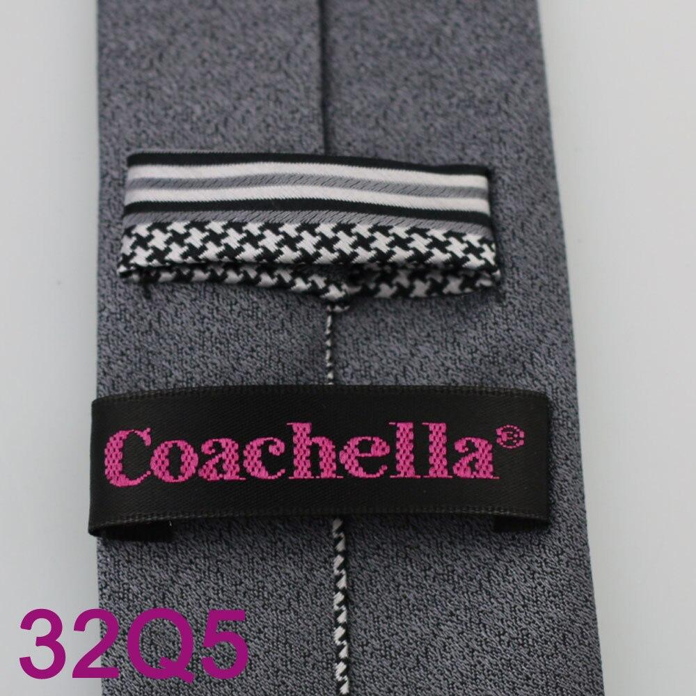 YIBEI Coachella темно-серая бордюр мужской галстук черно-белый в Вертикальную Полоску геометрический Gravatas De Seda классика новые галстуки для мужчин