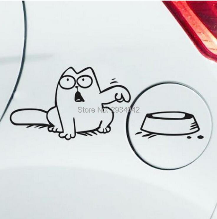 car styling funny simon cat car fuel tank cover sticker for jaguar xf xe x