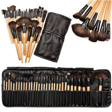 Professional 32 pcs Makeup Brushes Set For Women Fashion Soft Face Lip Eyebrow Shadow Make Up Brush Set Kit + Pouch Bag