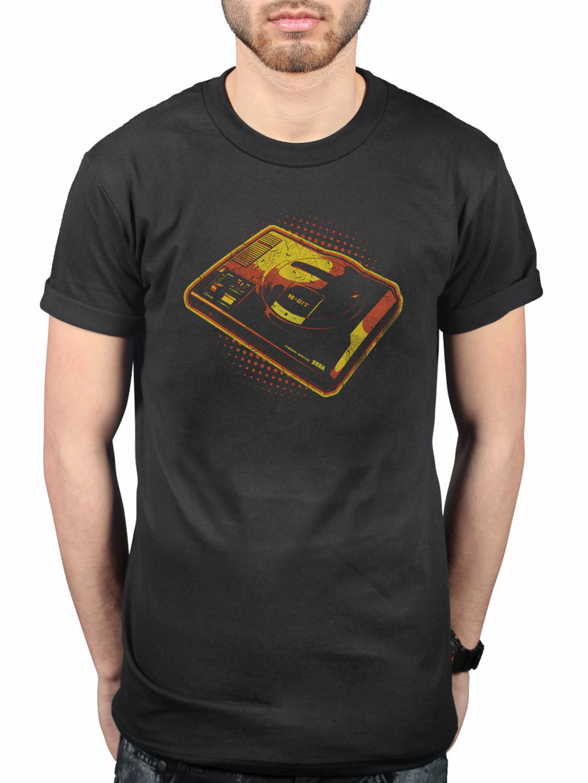 Sega Retro Mega Drive T-Shirt Classic Game Genesis Controller Gamer Fan