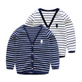 LittleSpring Baby Boy Autumn Striped Cardigan Trendy V-neck Knit Sweater Spring Single-breasted Children Boys Cardigan Coats