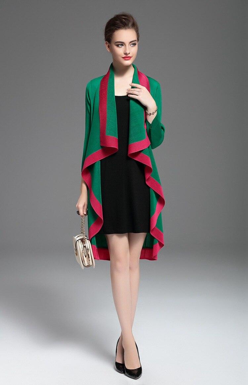c24d15edad Negro En verde Falda Venta De Tres Abrigo Stock rojo Longitud Cuartos  Miyake Patchwork Moda Ropa Caliente wSHq4O