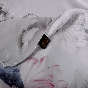 Image 5 - [BYSIFA] роскошный серый розовый женский шелковый шарф, шаль, модный натуральный шелк, длинные шарфы, новый дизайн лотоса, элегантный атласный шарф на шею
