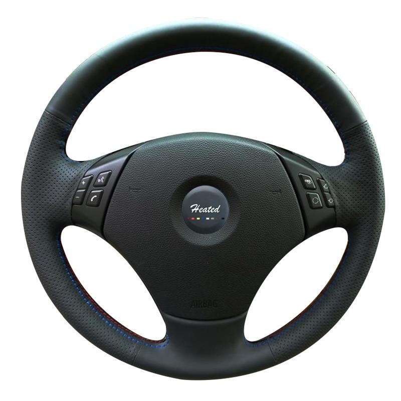 Steering Wheel Cover for BMW E90 320 318i 320i 325i 330i 320d X1 328xi 2007 Microfiber leather Braid on the steering wheel