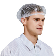 Disposable shower caps PE waterproof cap hat Independent package 100pcs