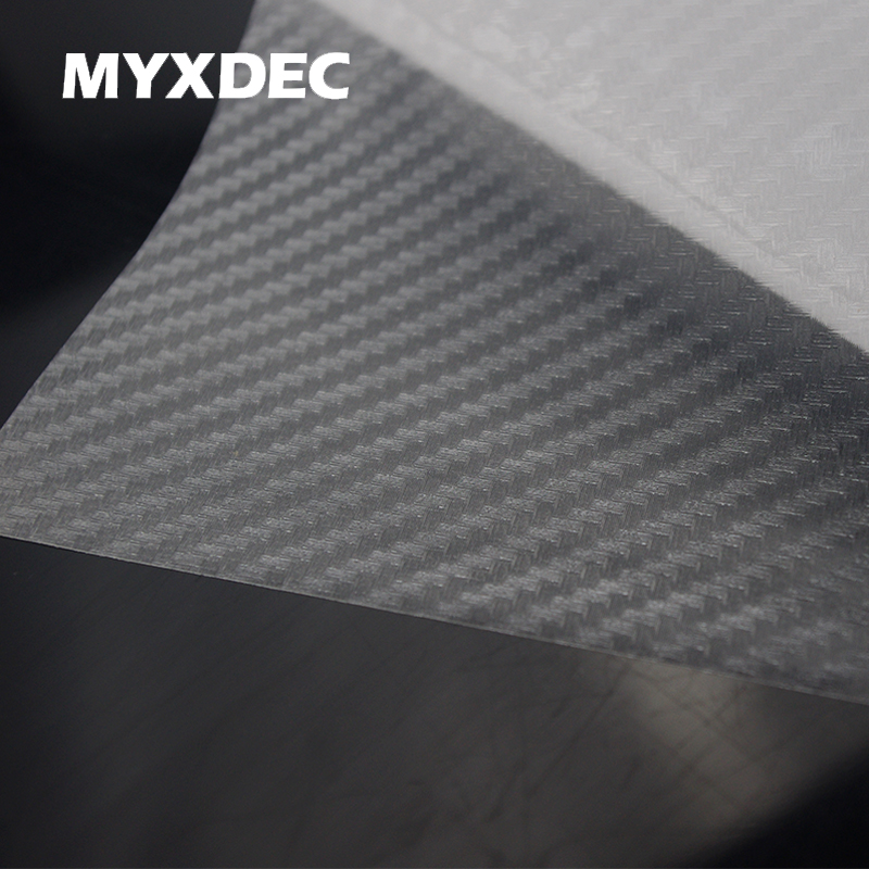 127*30CM 3D Pellucid Carbon Fiber Vinyl Sticker Car Wrapping Foil Carbon Fiber Transparent Car Decoration Sticker Car Styling