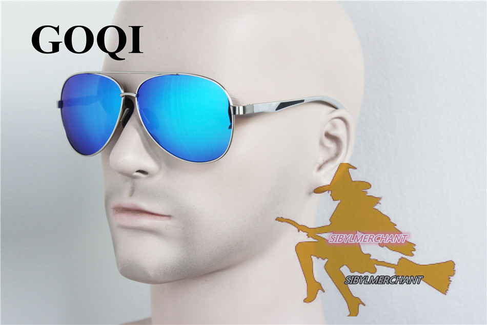 2017GOQI New Style man Gafas,The Metal alloy Frame Polarizeds