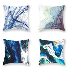 Nordic Abstract Art Linen Cushion Cover Ink Style 4Pcs Printed Pillowcase Fantastic Decoration for Sofa room Home Decor 45x45cm