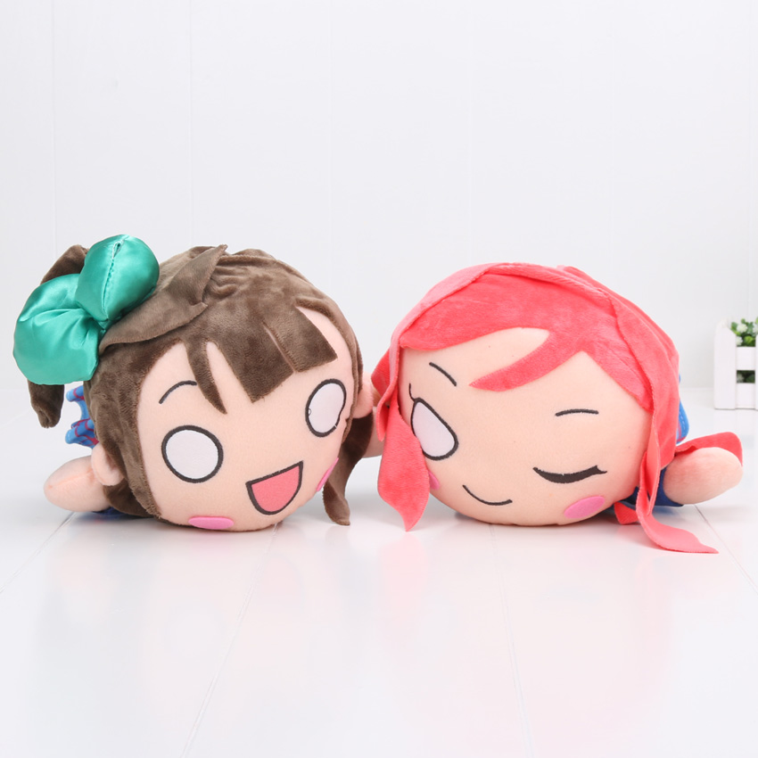 30cm Love Live School Idol Project Plush Toys Kotori Minami Maki Nishikino Figures Hot Stuffed Soft Dolls fluffy wave flaxen long love live white day kotori minami cosplay wig with ponytail