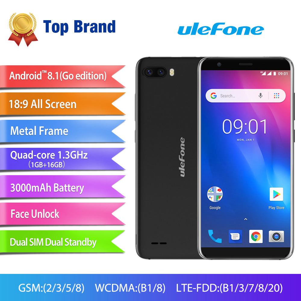 Ulefone S1 Pro Mobile Phone 1GB RAM 16GB ROM Android 8 1 5 5 18 9