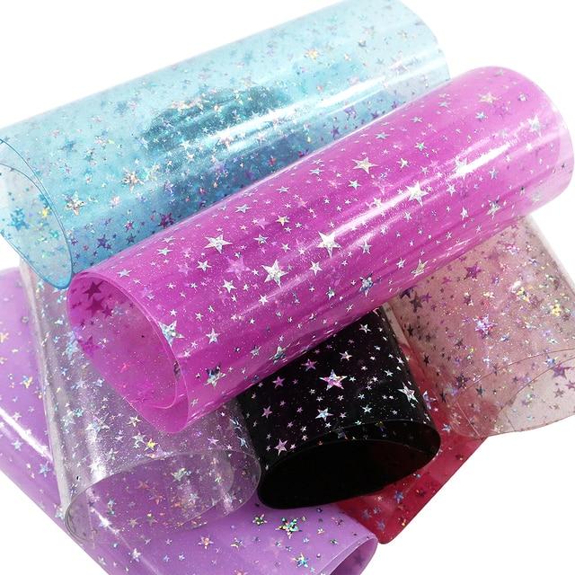 David accessories 20 34cm starfish Transparent stars vinyl faux fabric synthetic  leather b2f50701ff65