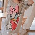 Горячая одежды для беременных 100% хлопок характер утка свободного покроя беременная одежда с коротким рукавом футболка вершины