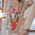 Hot Maternity clothing 100% Cotton Character Duck Casual Pregnant Clothing Short-sleeve T-shirt Tops