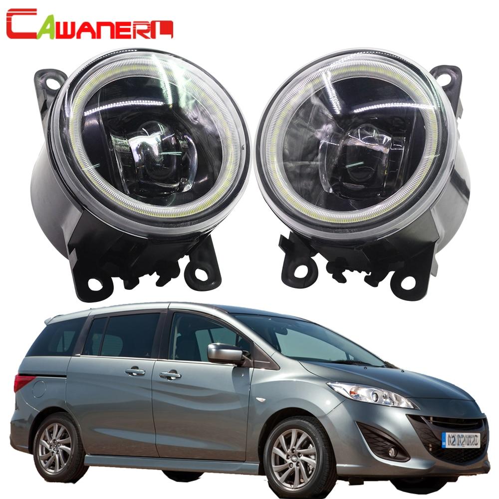 Cawanerl 2 Pieces Car Styling LED Bulb Fog Light Angel Eye DRL 12V For Mazda MPV II (LW) 1999 2000 2001 2002 2003 2004 2005 2006
