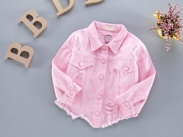 Aliexpress Com Buy Candy Color Denim Jackets For Boys Girls Kids