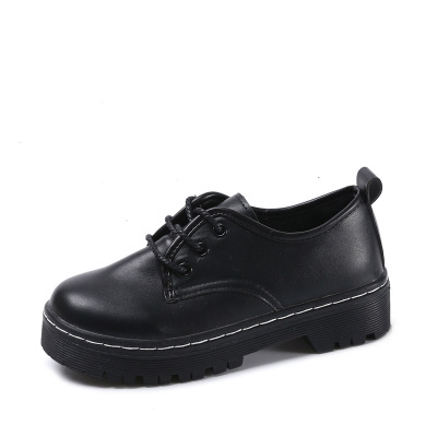 British Style Women Flats Oxford Shoes Girl Spring Soft Leather Casual Shoes Lace Up Womens Shoes Retro Brogues Flat Shoe beffery spring patent leather oxford shoes women flats pointed toe casual shoes lace up soft leather womens shoes retro brogues