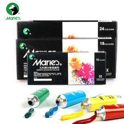 12/18/24 kolorów 5ML gwasz zestaw farb DIY akwarela dla na tkaninie na ścianę kamień kolor wody artystyczny obraz do rysowania artystycznego dostaw