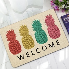 New Welcome Doormats Rubber Door Mat 3D Watermelon Fruit Pineapple Carpet For Living Room Bedroom Floor Mats Kitchen Rugs Tapete 3d pineapple print door mat