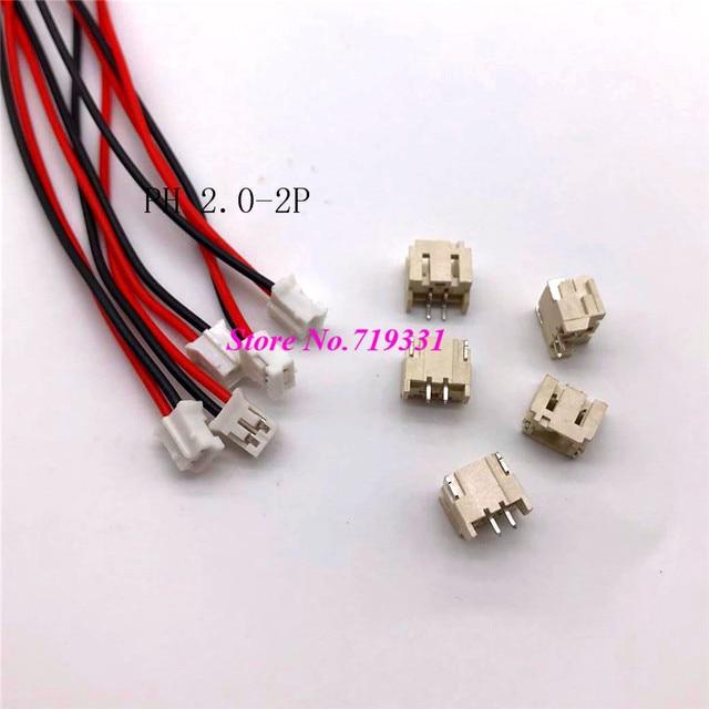 PH 2.0mm 2 3 4 5 6 7 8 9 10P Male & Female SMD Connector Plug w ...
