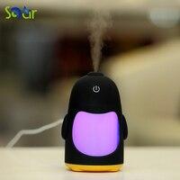 5 V USB Powered 150 ML LED Lamba Penguen Gece Işık için Hava Nemlendirici Serin Mist Aroma Nemlendirici Ofis Yatak Odası bebek Odası