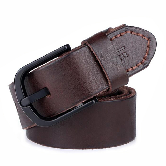 [TG] Brand designer men belts real leather luxury belt for men black buckle man Jeans natural genuine leather belt male strap