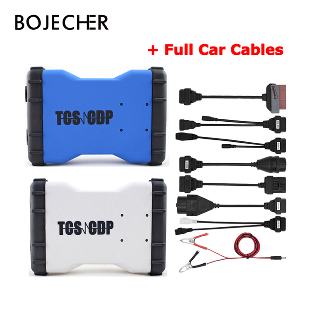 Best Price 2Pcs/Lot 2016.R0/ 2015.R3 Software TCS CDP Pro Plus With Bluetooth For Cars & Trucks 3 in 1 + Full Set 8 Car Cables by DHL Free