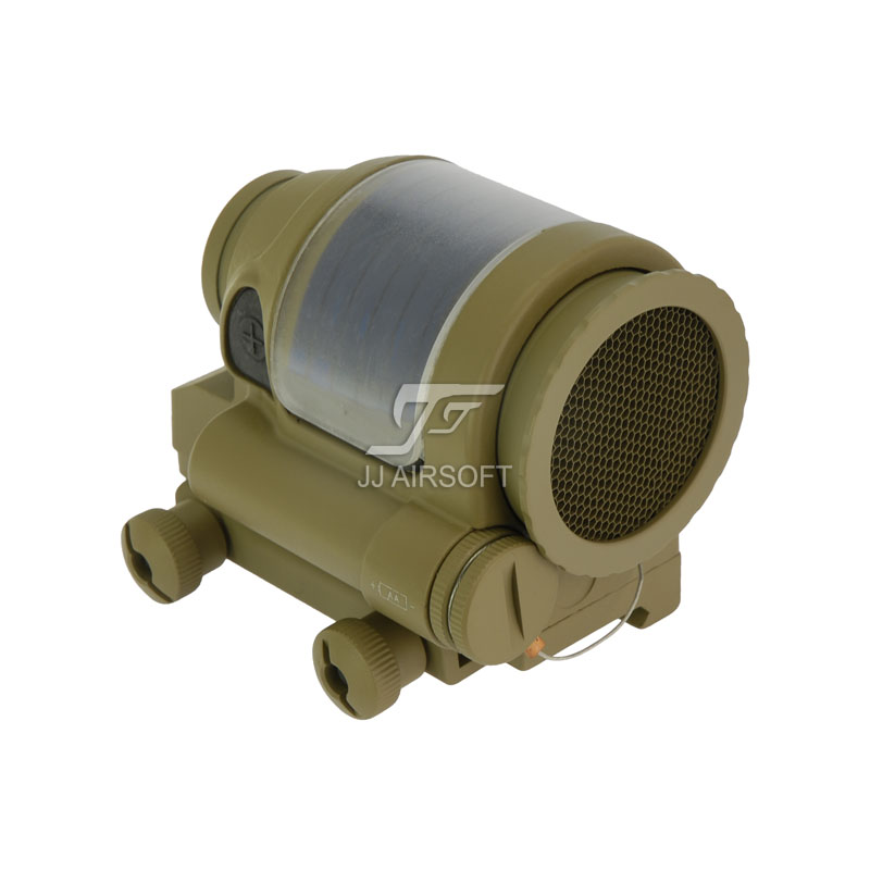 JJ Airsoft SRS Style 1x38 Red Dot with Killflash / Kill Flash (Solar cell assisted) (Tan) jj airsoft vsr10 vsr 10 metal