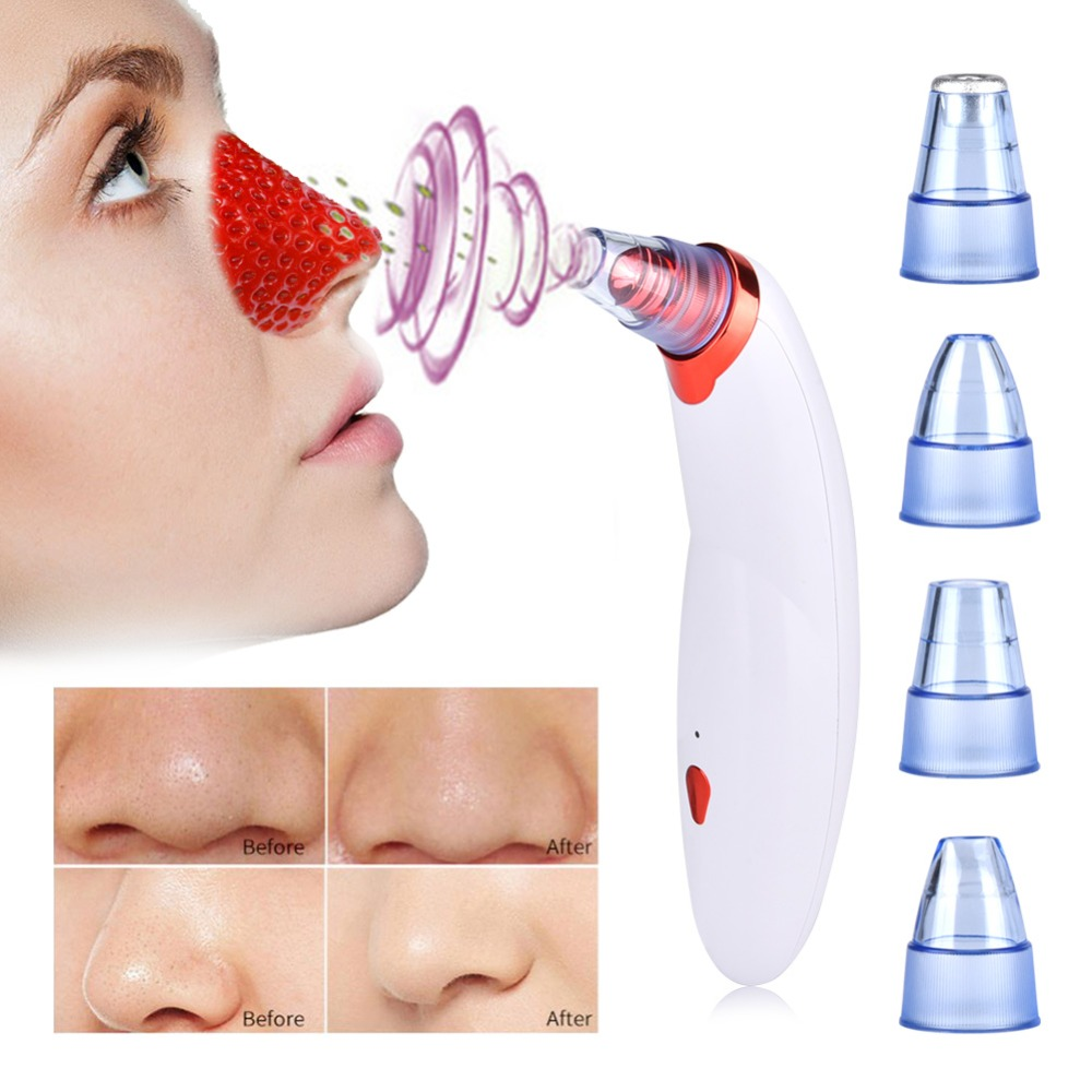 Power Pore Vacuum Suction Blackhead Remover Acne Peeling Exfoliating Face Cleanser Body Cupping Massage Skin Care Beauty Machine