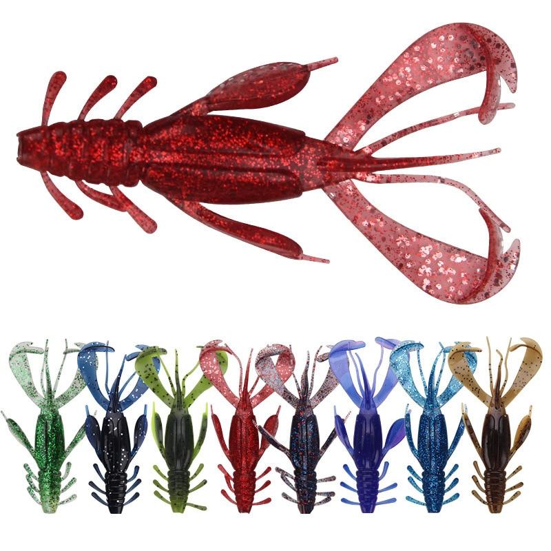 3Pcs/lot Beard Shrimp Soft Lure 10cm 10g Fishing Artificial Bait Simulation Lifelike Prawn