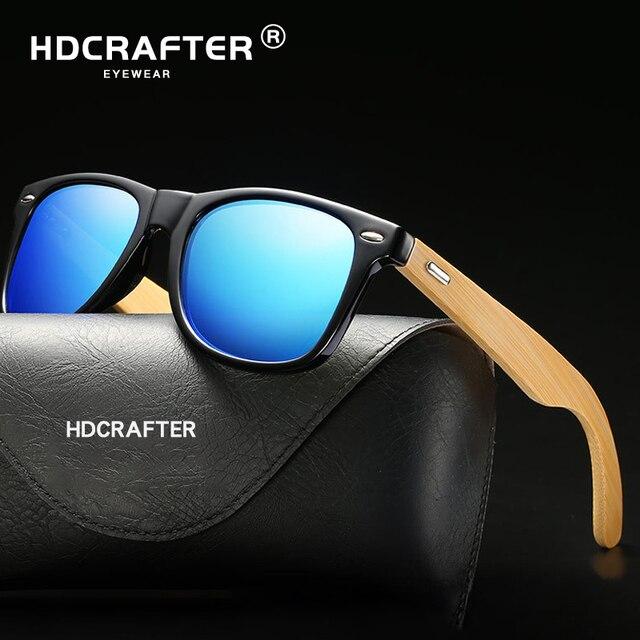 7c178940f8d8db Brand Design Retro Hout Zonnebril Mannen Vierkante Bamboe Klassieke  Zonnebril Vrouwen Spiegel Houten Bril UV400 gafas