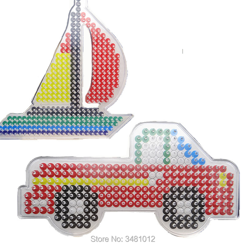 Image 2 - 2pcs/bag Hama Beads 5mm DIY Pegboard Jigsaw Perler Beads Puzzles Pegboards Craft Peg Boards Kids Educational Toys for Children-in Puzzles from Toys & Hobbies
