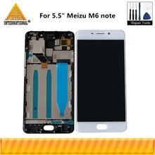 """الأصلي Axisinternational 5.5 """"ل Meizu M6 ملاحظة شاشة LCD عرض محول رقمي يعمل باللمس مع الإطار لعرض مذكرة M6"""