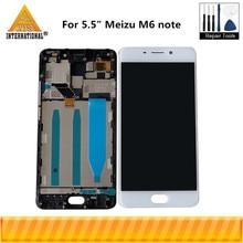 Оригинальный ЖК экран Axisinternational 5,5 дюйма для Meizu M6 Note + сенсорная панель дигитайзер с рамкой для дисплея M6 Note