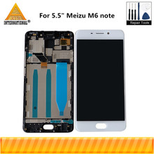 """Original Axisinternational 5.5"""" For Meizu M6 Note LCD Screen Display+ Touch Panel Digitizer With Frame For M6 Note Display"""