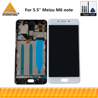 Original Axisinternational For 5.5 Meizu M6 Note LCD Screen Display+ Touch Panel Digitizer With Frame For M6 Note Display