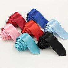 Лидер продаж! Тонкий Модный фирменные галстуки галстук мужской свадебный 16 5 см сплошной цвет Повседневный Тонкий Узкий тощий галстук в виде стрелки